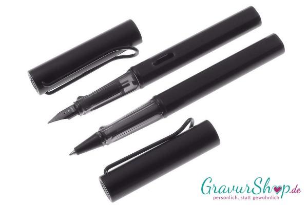 LAMY AL star Schreibset Füller-Tintenroller black mit Gravur