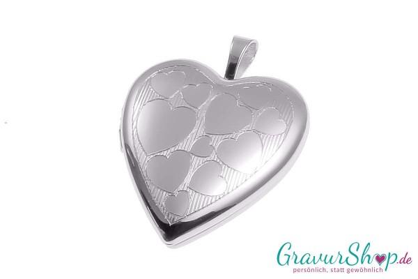 Silber Medaillon mit Gravur 09