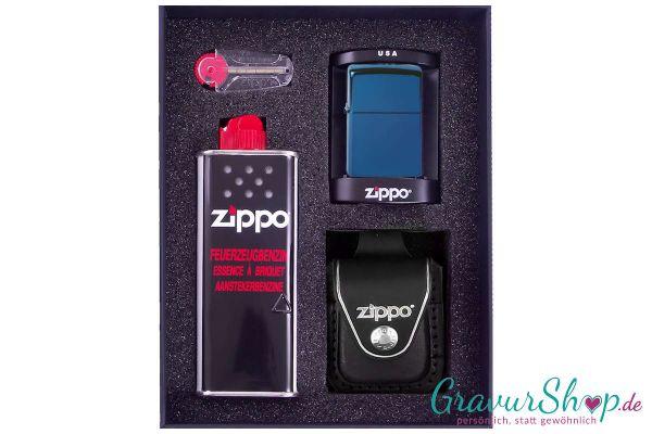 Zippo Set 2 - High Polish Blue