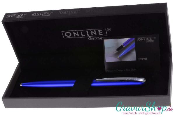Online Event Kugelschreiber blau