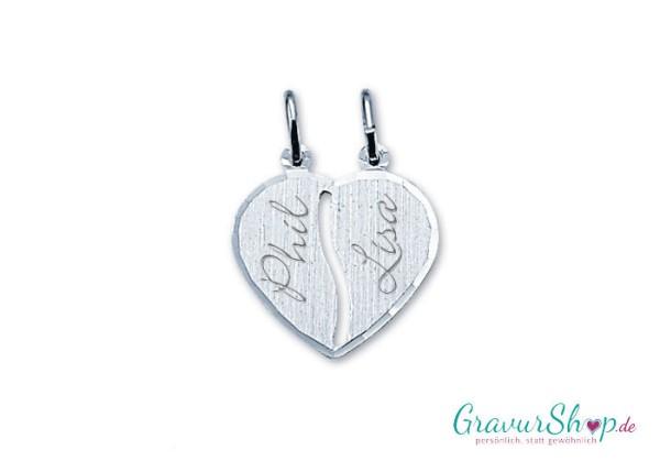 Silber Partneranhänger 11 mit Gravur