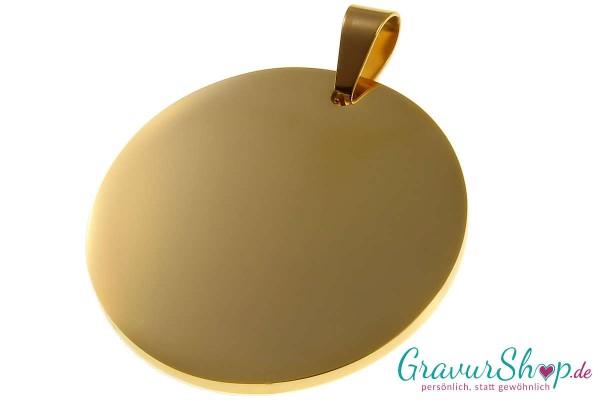 Edelstahl Anhänger 14 gold mit Gravur
