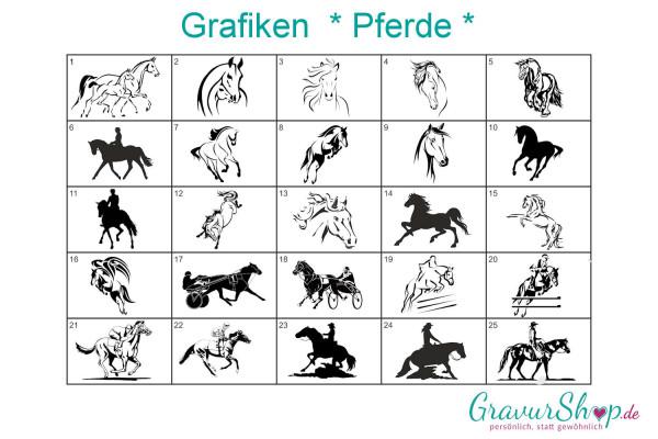 Pferde Grafiken zum gravieren