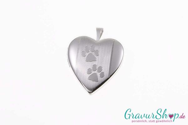 Silber Medaillon mit Gravur 05