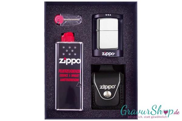 Zippo Set 2 - Chrom poliert