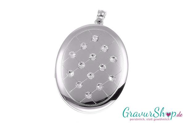 Silber Medaillon mit Gravur 15b