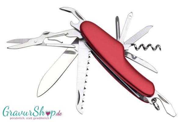 Taschenmesser 01 rot mit Gravur