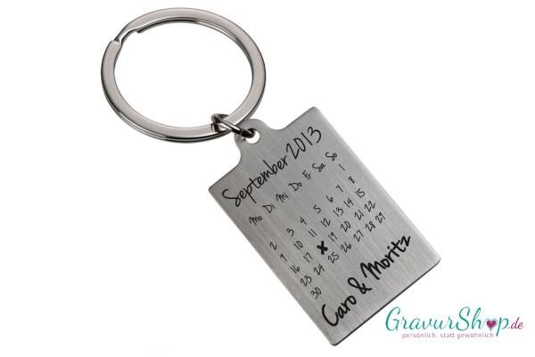 Schlüsselanhänger Nr 56 mit Gravur Kalender B
