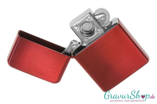 USB Glühspirale Feuerzeug rot mit Gravur