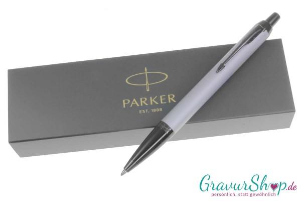Parker Kugelschreiber IM Silber satiniert Schwarz