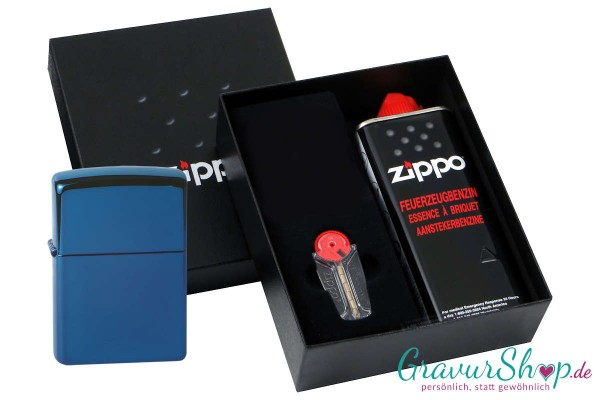 Zippo Geschenk Set mit Zippo Blue Ice