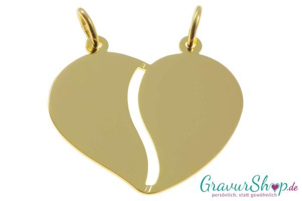 Gold Partneranhänger 08 mit Gravur