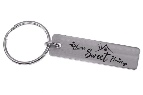 Schlüsselanhänger Nr. 59 mit Gravur Home Sweet home