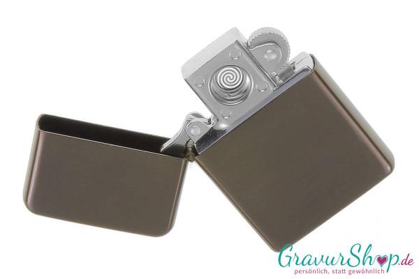 USB Glühspirale Feuerzeug anthrazit mit Gravur