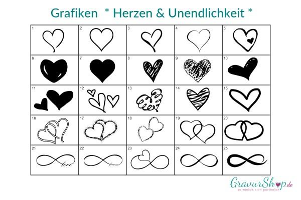 Grafik - Herzen & Unendlichkeit