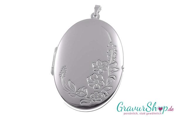 Silber Medaillon mit Gravur 16