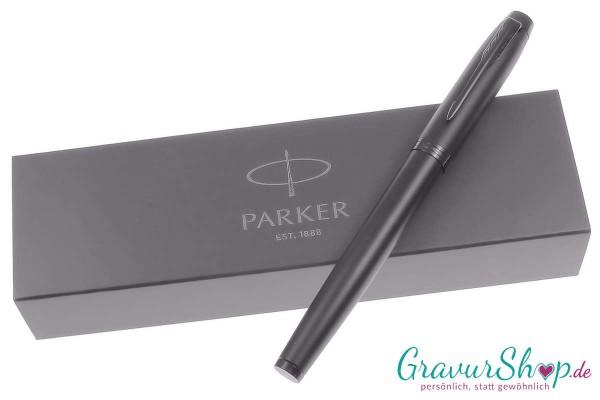 Parker IM Tintenroller chromatique schwarz mit Gravur