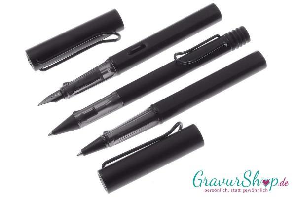 LAMY AL star 3er Set Füller-Kuli-Tintenroller black mit Gravur